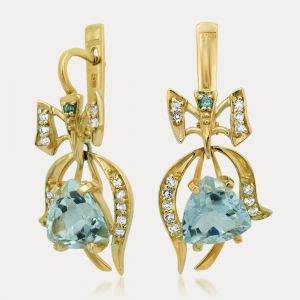 Green Amethyst Earrings