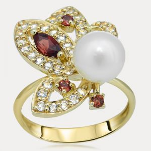 Pearl and Garnet Ring