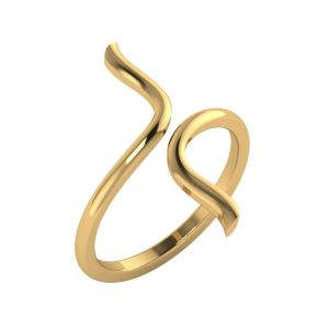 Bypass Gold Ring