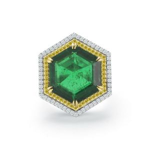 Hexagon Emerald Ring