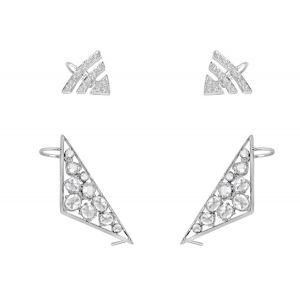 Rosecut Diamond Ear Cuffs