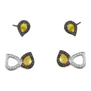 Slice Diamond Ear Cuffs