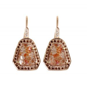 Red Diamond Earrings