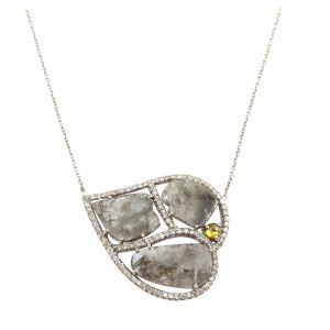 Slice Diamond Chain Pendant