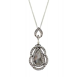 Slice Diamond Pendant