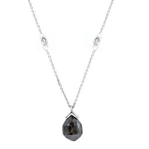 Diamond Briolette Necklace