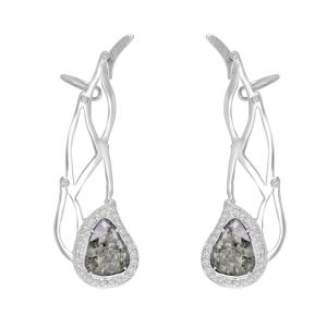 Slice Diamond Ear Climbers