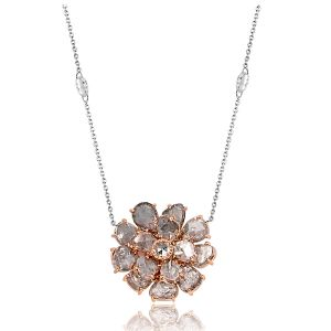 Slice Diamond Flower Pendant