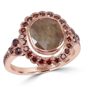 Reddish Slice Diamond Ring