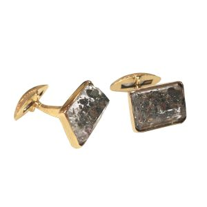 Quartz Pyrite Cufflinks