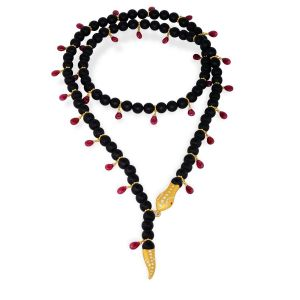 Onyx Snake Necklace