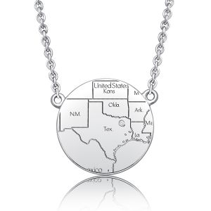 Personalized Map Necklace