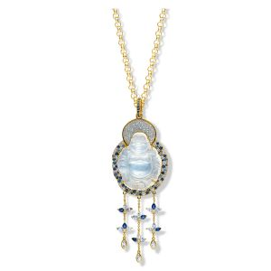 Moonstone Buddha Necklace