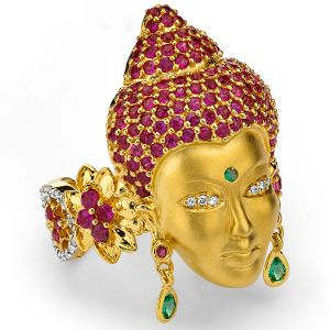 Buddha Head Ring