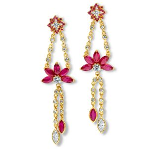 Marquise Lotus Earrings