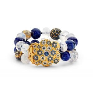 Lapis and Moonstone Bracelet