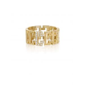 Greek Key Eternity Band