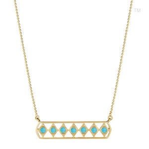 Turquoise Gladiator Bar Necklace