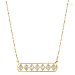 Diamond Gladiator Bar Necklace