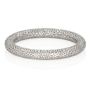 White Gold Lace Bangle