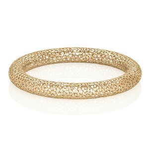 Yellow Gold Lace Bangle