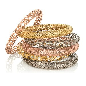 Stackable Metal Lace Bangles