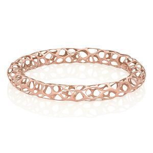 Rose Gold Lace Bangle