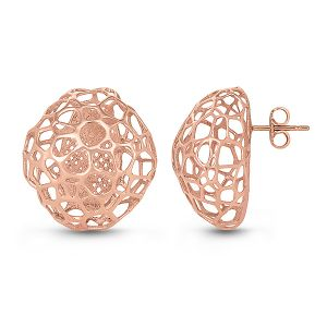 Rose Gold Bubble Earrings