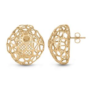 Yellow Gold Bubble Earrings