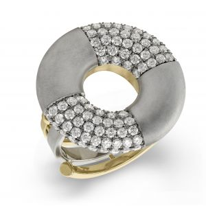 Beolli Doughnut Diamond Ring