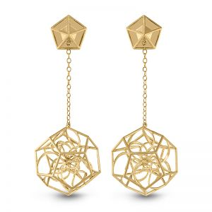 Dodecahedron Earrings