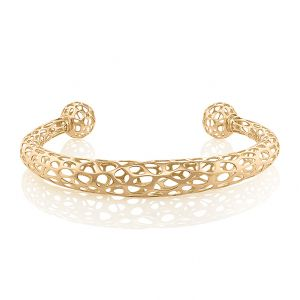 Ellipsoid Bracelet w Ball Ends