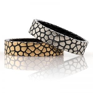 Snake Pattern Wedding Bands
