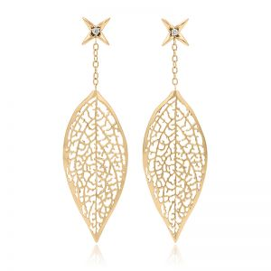 Forsythia Leaf Earrings
