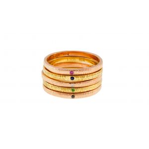 Multicolored Ring Stack