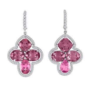 Garnet and Spinel Earrings