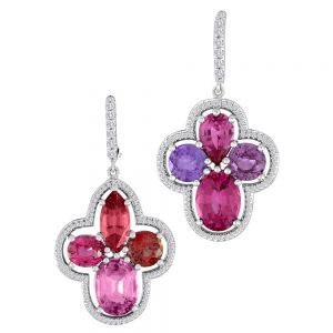 Spinel and Sapphire Earrings