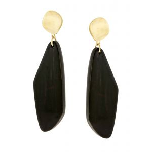 ZIYA Geometric Horn Earrings