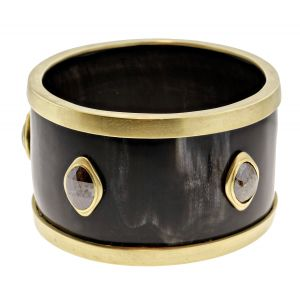 Black Horn Barrel Bracelet