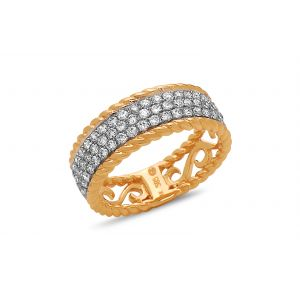 Diamond Pave Braided Band
