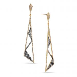 Rock & Roll Triangle Earrings