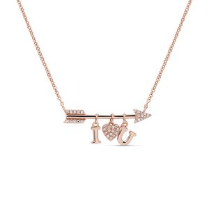 I Heart You Charm Necklace