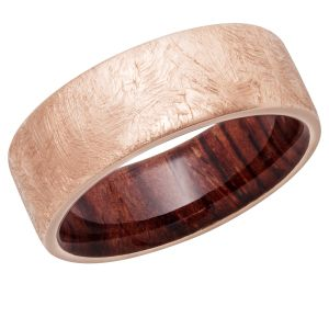 Distressed Hardwood Sleeve Ring