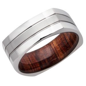 Polished Hardwood Sleeve Ring