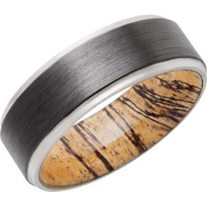 Satin Polish Hardwood Sleeve Ring
