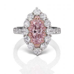 Pink Diamond Marquise Ring