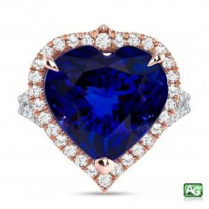 Blue Tanzanite Heart Ring