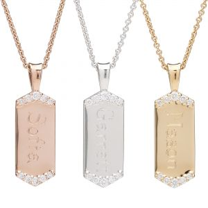 Diamond Dog Tags