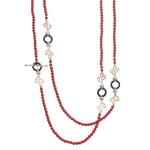 Coral Foglia di Mare Necklace