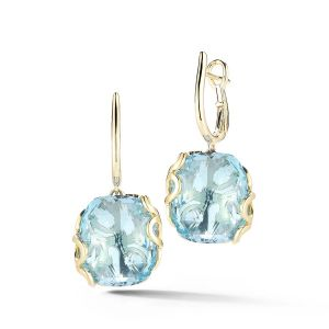 Blue Topaz Foglia di Mare Earrings